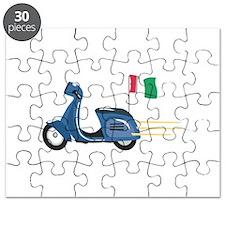 Italian Scooter Vespa Motorcycle Puzzle