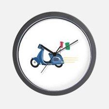 Italian Scooter Vespa Motorcycle Wall Clock