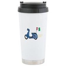 Italian Scooter Vespa Motorcycle Travel Mug