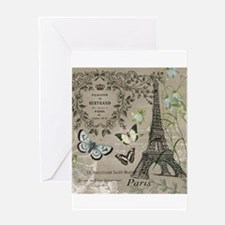 Vintage French Eiffel Tower Greeting Cards