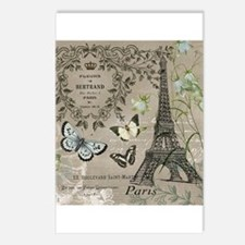 Vintage French Eiffel Tower Postcards (Package of