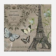 Vintage French Eiffel Tower Tile Coaster