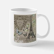 Vintage French Eiffel Tower Mugs