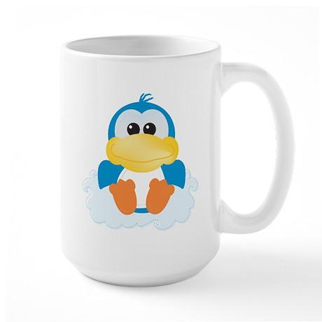 Blue Ducky Duck on a Cloud Large Mug