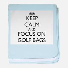 Cool I heart golf baby blanket