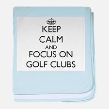 Funny I heart golf baby blanket