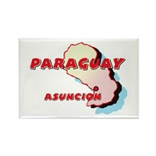 Paraguay Map Rectangle Magnet