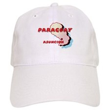 Paraguay Map Baseball Cap