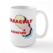 Paraguay Map Mug