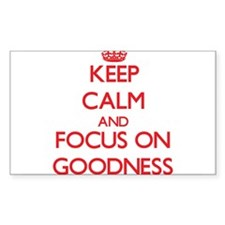 Keep Calm and focus on Goodness Bumper Stickers