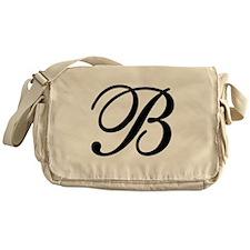 INITIAL B MONOGRAM Messenger Bag