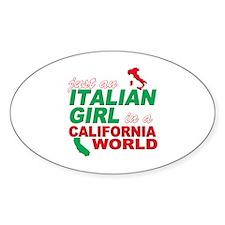 Italian Girls In California Decal