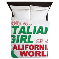 Italian Girls In California Queen Duvet