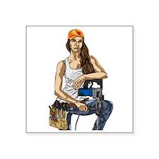 Woman Construction Worker Sticker