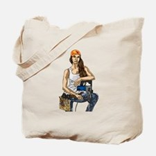 Woman Construction Worker Tote Bag