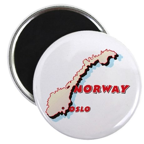 Norway Map Magnet