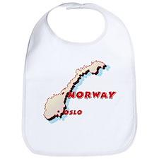 Norway Map Bib