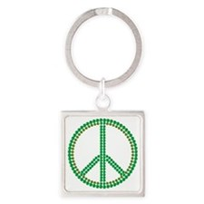 Cute Greenpeace Square Keychain