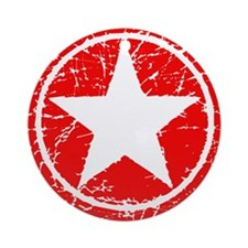 Star in Red Ornament (Round)