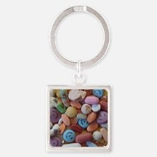 Pile of Pills Square Keychain