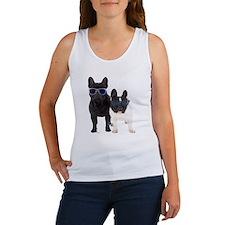 Bulldog Frances con Gafas de sol Women's Tank Top