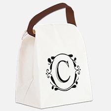 INITIAL C MONOGRAM Canvas Lunch Bag