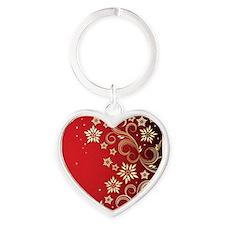 Red Design Heart Keychain