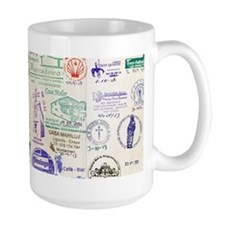 Camino de Santiago stamps Mugs