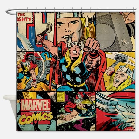 Thor Collage Shower Curtain