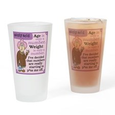 Aunty Acid: Age is a Number Drinking Glass
