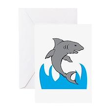 Jumping Shark Greeting Cards