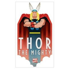 Thor the Mighty Deco Wall Art Poster