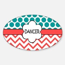 Dancer Teal Coral Decal