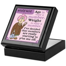 Aunty Acid: Age is a Number Keepsake Box