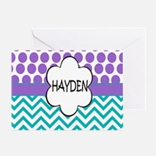 Hayden Lavender Turquoise Greeting Card