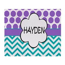 Hayden Lavender Turquoise Throw Blanket