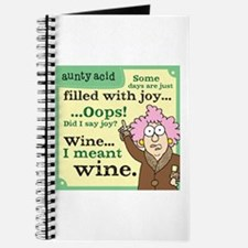 Aunty Acid: Filled with Wine Journal