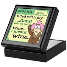 Aunty Acid: Filled with Wine Keepsake Box