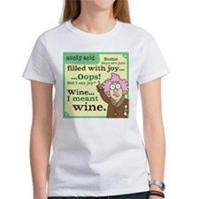 Aunty Acid: Filled with Wine Tee