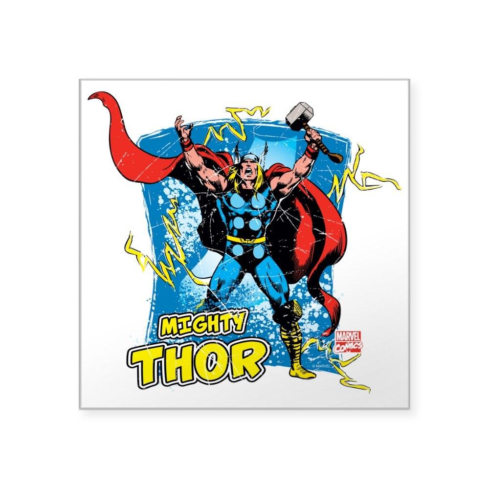 1353389779 CafePress Mighty Thor Square Sticker 3 X 3 Square Sticker
