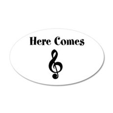 Here Comes Treble Wall Decal