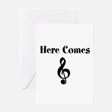 Here Comes Treble Greeting Cards 10 Pack