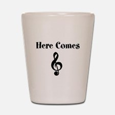 Here Comes Treble Shot Glass