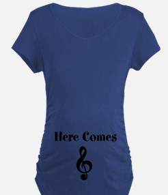 Here Comes Treble Maternity T-Shirt