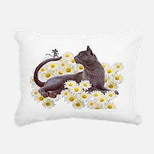 Daisy Cat Rectangular Canvas Pillow