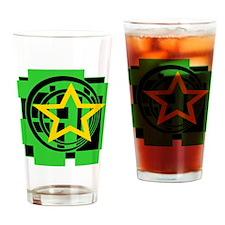 Star, Circles, Squares Drinking Glass