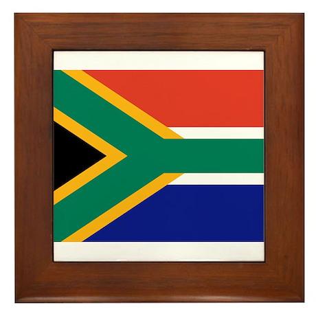 South Africa Flag Framed Tile