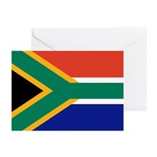 South Africa Flag Greeting Cards (Pk of 10)