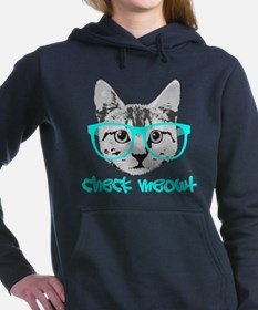 Check Meowt - Funny Saying Women's Hooded Sweatshi