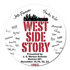 New West Side.png Round Car Magnet